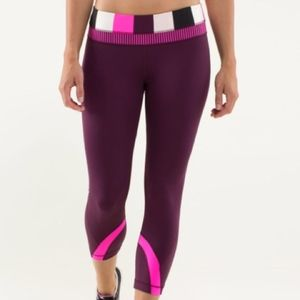 Lululemon Run: Inspire Crop II, size 12, plum